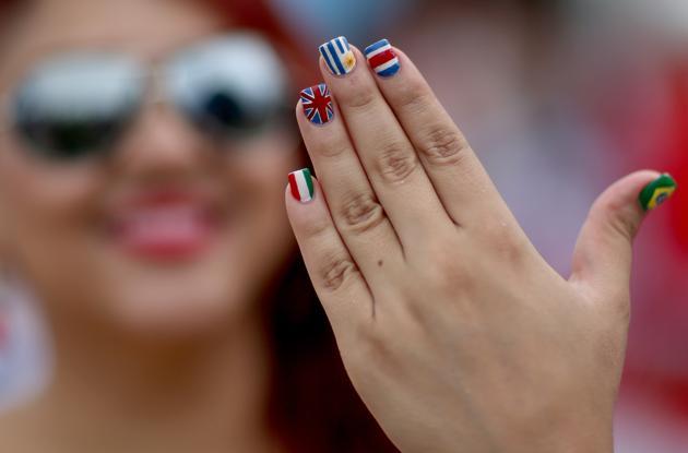 Beautiful nails 2014 World Cup