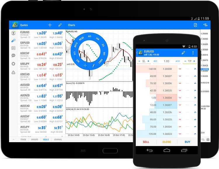Trading in MetaTrader 5 from your Android powered device is now even more convenient and easy. The new build of the application features a new design which is entirely consistent with the Google Style Guide - our specialists have significantly updated the software interface.