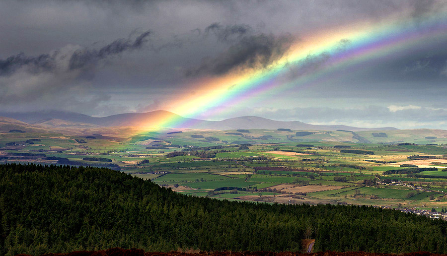 Rainbow over the Cheviots, Northumberland by Mackenzie King Photography