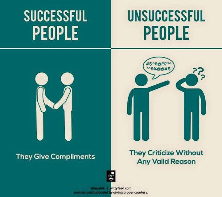 successful/unsuccessful people