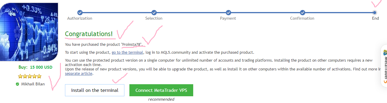 Good afternoon, friends, traders! Many have applied for a discount to the product of Proinsta 78. To get a discount, you need to provide a screenshot of the purchase or rental. It looks one way or another, depending on your payment system. Thank you for understanding. ✅MT4©: https://www.mql5.com/ru/market/product/37235#!tab=reviews