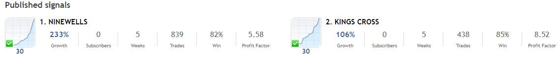 good signals , a month old ... cashback and rebates : https://www.cashbackforex.com/%23aid_351291 https://www.mql5.com/en/signals/1049516?source=Site+Profile+Seller  https://www.mql5.com/en/signals/1049725?source=Site+Signals+From+Author