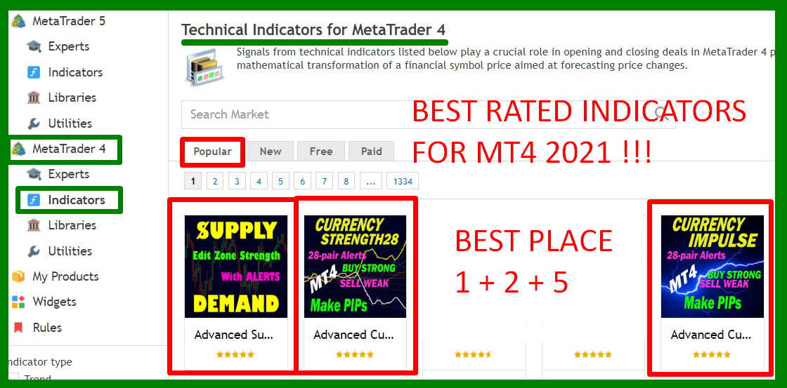 BEST RATED INDICATORS FOR MT4 2021  Something must be right.   Best Solution for any Newbie or Expert Trader!  User manual ACS28: https://www.mql5.com/en/blogs/post/697384  User manual Impulse: https://www.mql5.com/en/blogs/post/697135  User manual Advanced Supply Demand: https://www.mql5.com/en/blogs/post/720245   Regards Bernhard  https://www.CurrencyStrength28.com