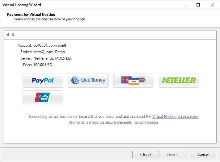 Оплачивать виртуальный хостинг и подписку на торговые сигналы в MetaTrader 4 стало гораздо проще — теперь для этого не обязательно заходить на MQL5.community и пополнять там свой баланс. Прямо в платформе выбирайте подходящую платежную систему и переводите с нее деньги.  Нужная сумма сперва зачислится на ваш MQL5.community аккаунт, а затем с него будет произведена оплата. Таким образом у вас под рукой будет полная и прозрачная история арендованных хостингов и подписок на сигналы. https://www.mql5.com/ru/forum/64769