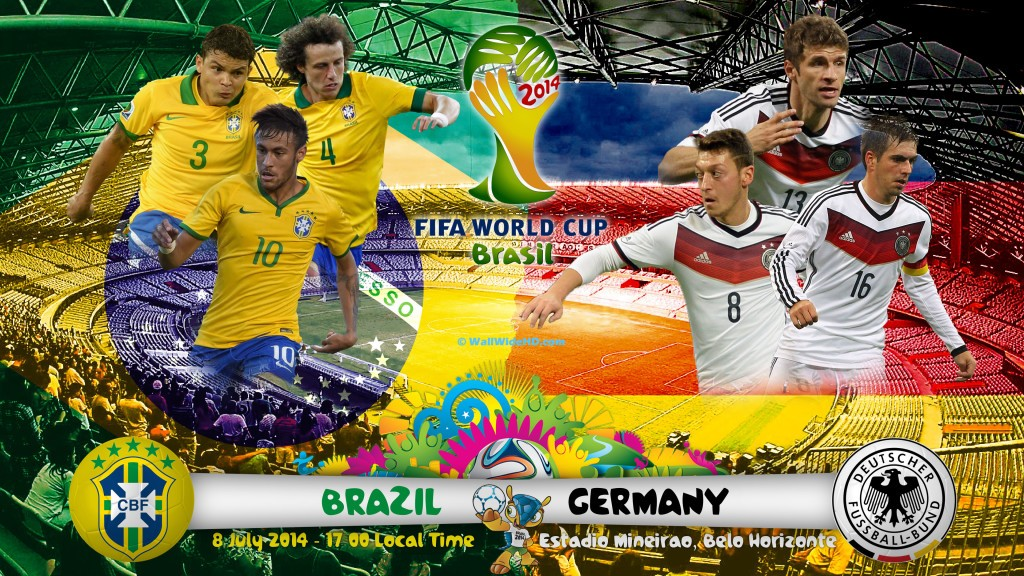 Brazil without Neymar against Germany today