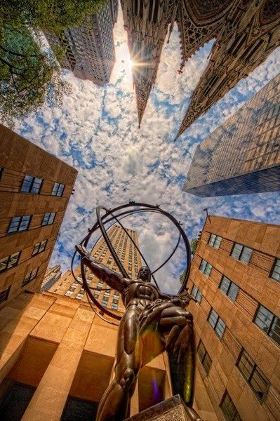 Magnificent View! The Popular City -New York-USA - New York. NY - Rockefeller Center- USA