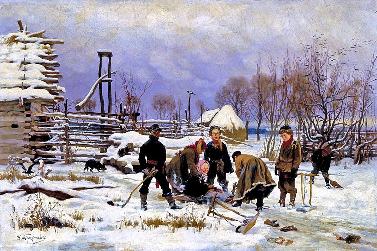 Ivan Tvorozhnikov. Winter. undated (1880s?)