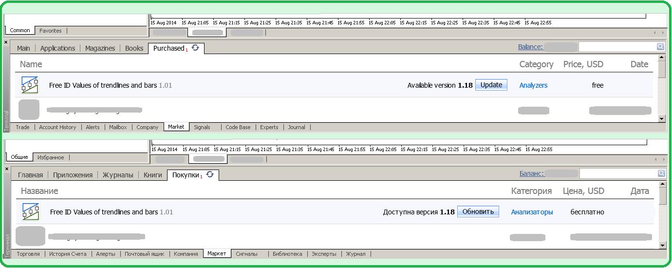 """Дорогие пользователи индикатора """"Free ID Values of trendlines and bars"""" для МТ4! В торговых терминалах доступно его обновление до версии #1.18. Информацию об изменениях можно посмотреть на вкладке """"Что нового"""" страницы этого анализатора: https://www.mql5.com/ru/market/product/2401 И более подробно - на странице его платного собрата: https://www.mql5.com/ru/market/product/1615 С уважением и успешного трейдинга!"""