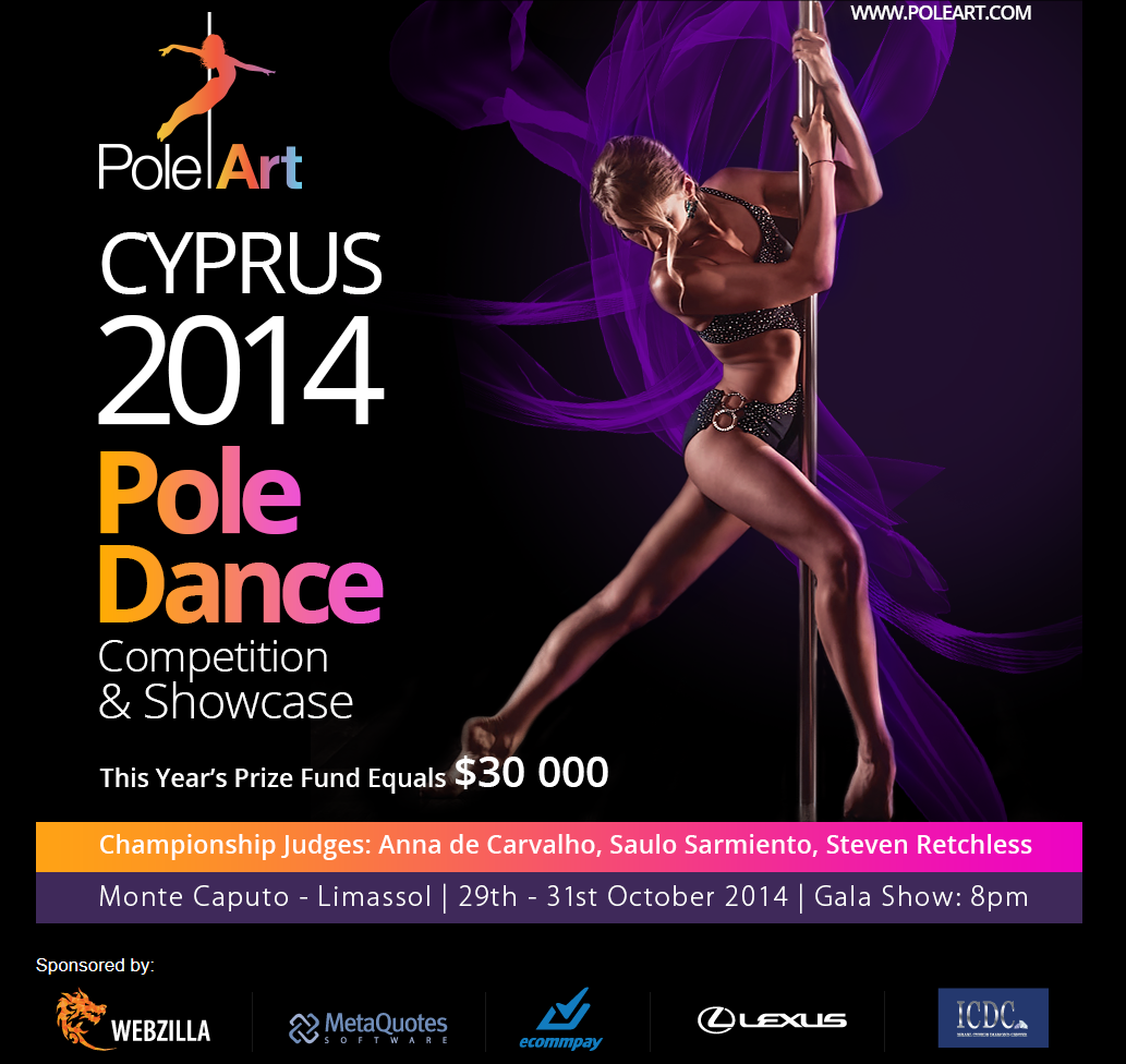 Спонсируем наших друзей из PoleArt: Pole Dance Competition and Showcase