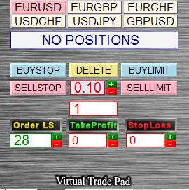 Exp5-VirtualTradePad - управление ордерами