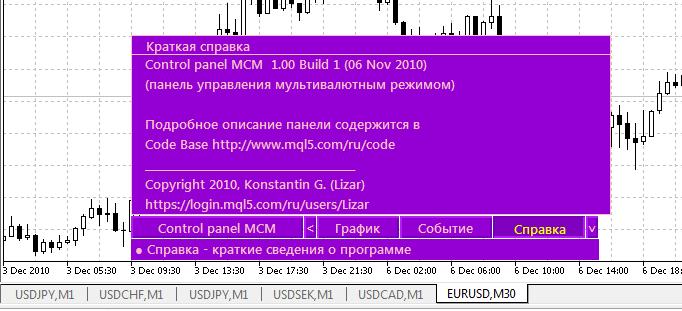 Справка панели iControl panel MCM