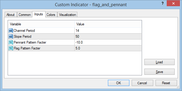 Flag and Pennant settings