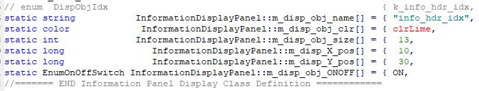 Information Panel Label Object Data