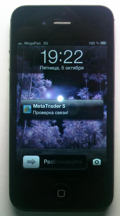 图2 使用手机接收推送通知.