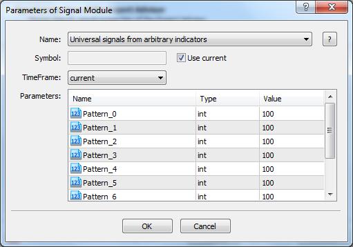 UniversalSignal setup in MQL Wizard