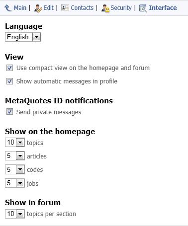 Configuración del aspecto externo de MQL5.community
