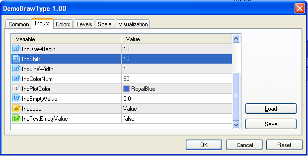 Fig 4. Indicator input parameters (continue)