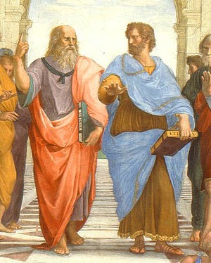 """Fragmento de """"La escuela de Atenas"""" de Raffaello Sanzio"""