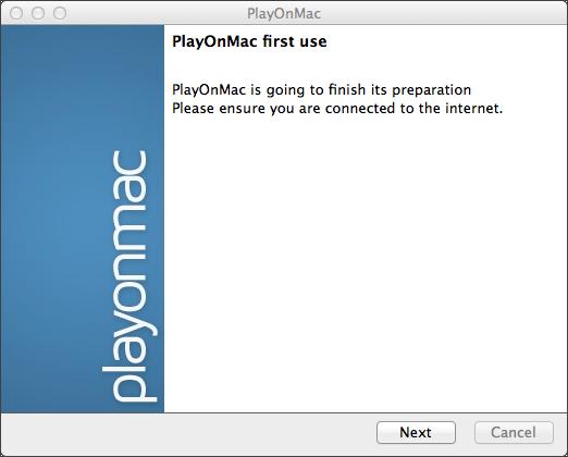 Первый запуск PlayOnMac