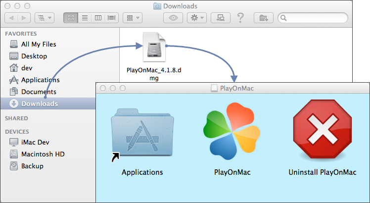 Launching PlayOnMac installation
