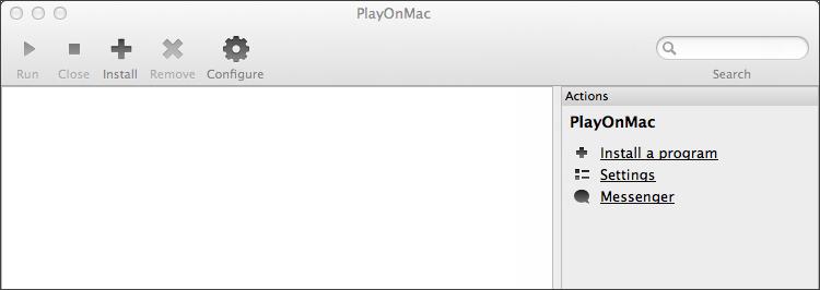 PlayOnMacのメイン画面
