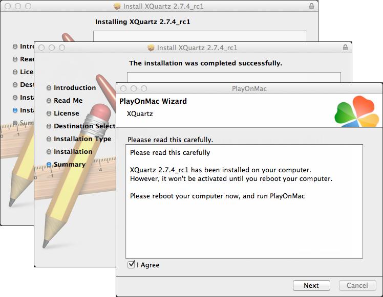 完成 Xquartz 安装
