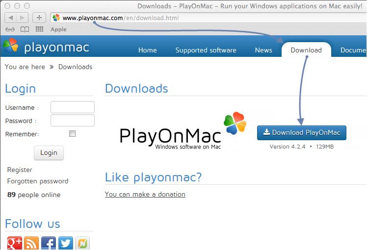 Скачивание PlayOnMac