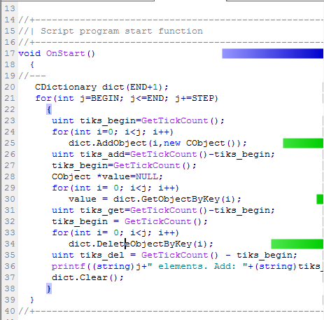 Fig. 9. Code profiling in the OnStart() function