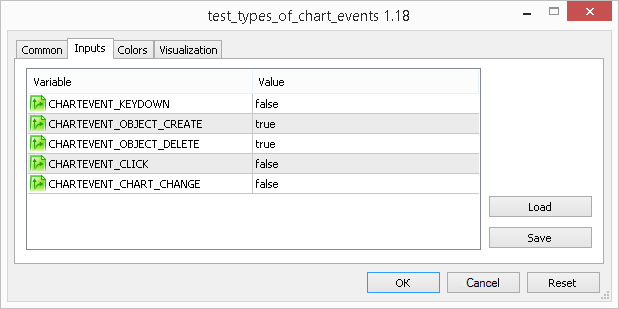 External custom properties of a test indicator-observer