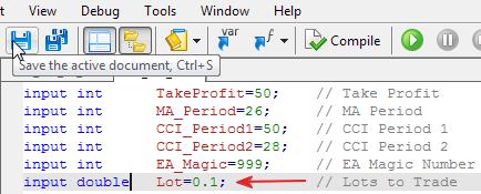 图 6. 纠正错误之后编译并保存代码