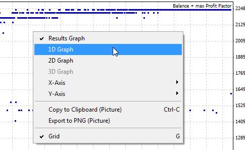 Рисунок 49. Выбираем линейный (1D) график для анализа результатов