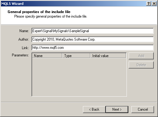 Figure 3. Setting the location of the include file