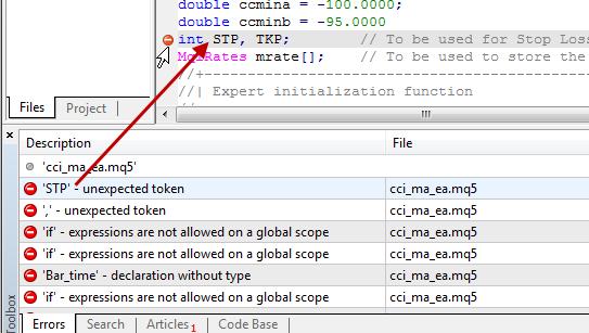 定位到代码错误行