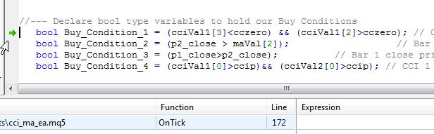 识别生成运行时错误的代码行