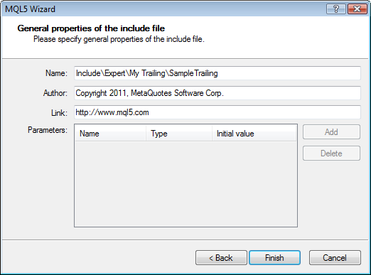 Figure 3. Setting the location of the include file.