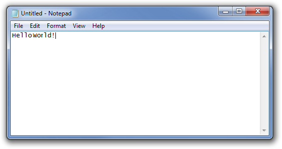 Fig. 2. Creating a text file in Notepad