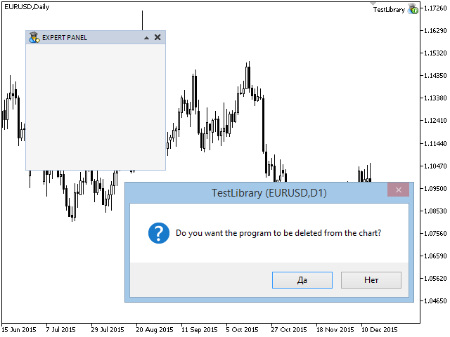 Fig. 2. Prueba del cierre del programa con el clic en el botón del formulario
