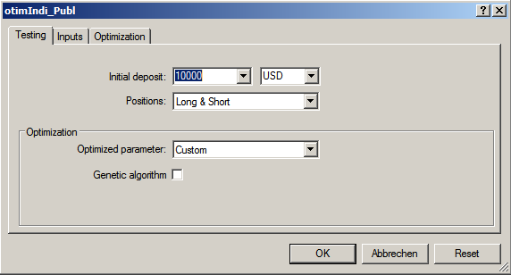 Fig. 02 StratTester-Setup EA Options