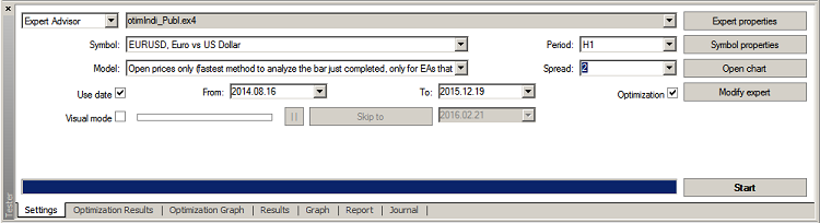 Fig. 03 StratTester-Setup Options