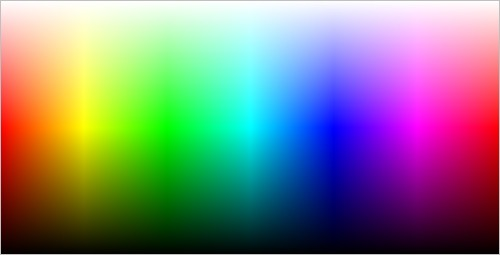 Fig. 2. Example of color palette sized 500x255 pixels.
