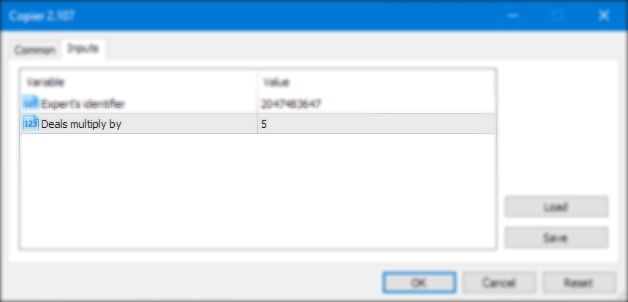 Input Parameters