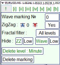 The settings panel
