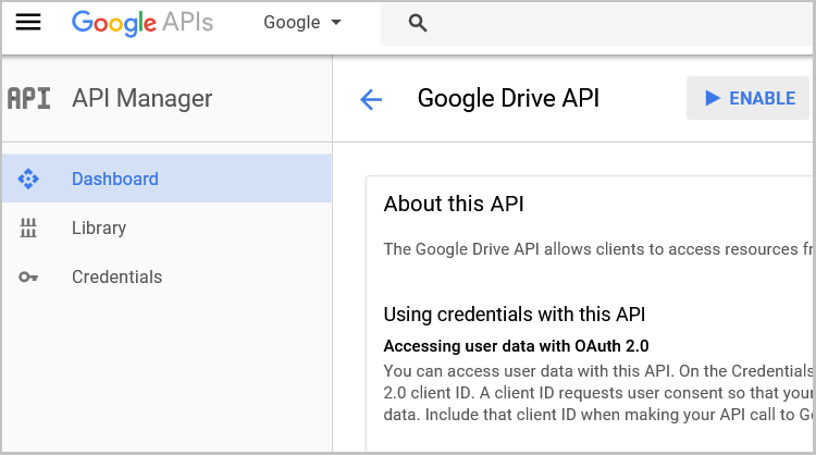 Activar API