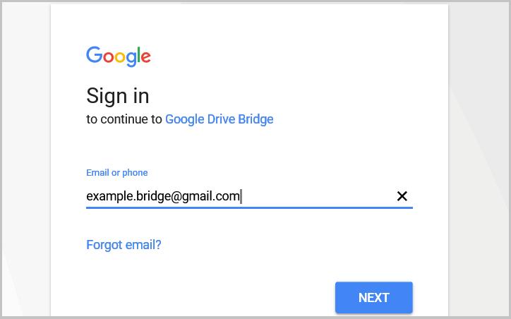 Página de acceso a la cuenta de usuario Google
