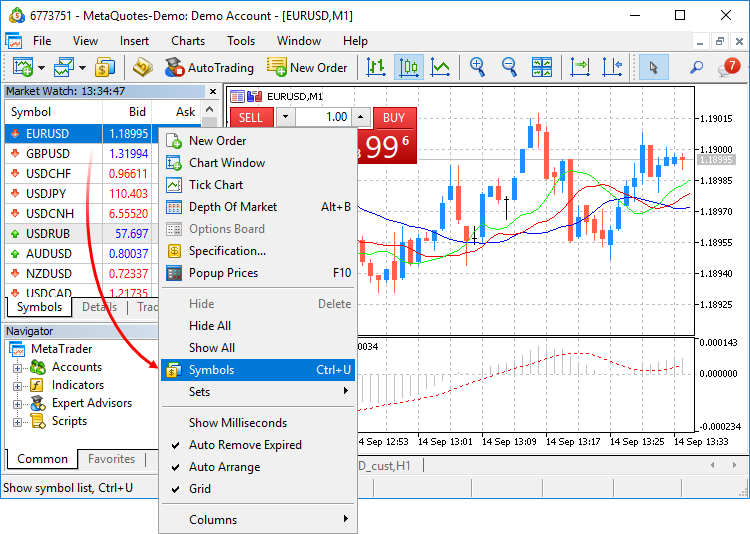 Creating and testing custom symbols in MetaTrader 5 - MQL5