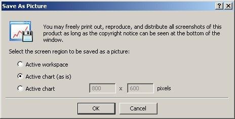 Establecer los parámetros de la imagen guardada
