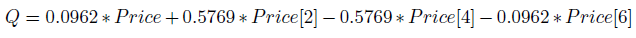 Quadrature component equation