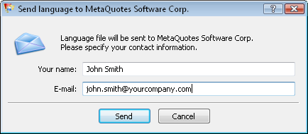 Sending translation to MetaQuotes Software Corp.