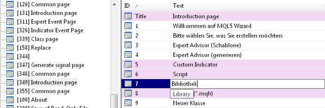 Translating a dialog box