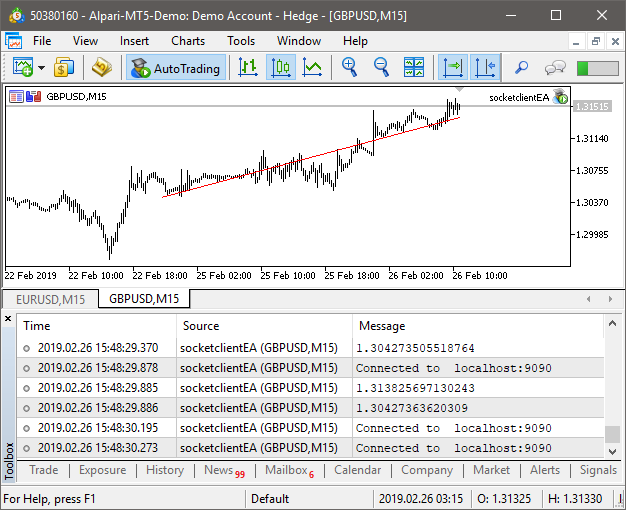 MetaTrader 5 and Python integration: receiving and sending data